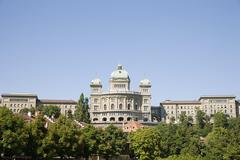 Federal building in berne switzerland - stock photo