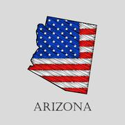 State Arizona - vector illustration. Piirros