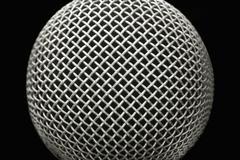 Microphone macro Stock Photos