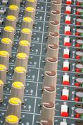 soundboard dials - stock photo