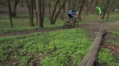 KIEV, UKRAINE : Competition mountain bike Stock Footage