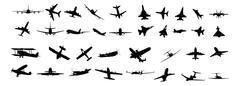 aircraft set - stock illustration