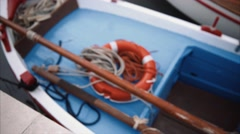 Lifebelt on Boat - Focus Stock Footage