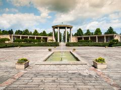 War memorial in Lidice - stock photo