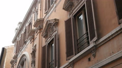 Walking Rome Italy - beautiful Rome architecture building Stock Footage