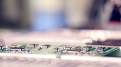 Automated circuit board production Stock Footage