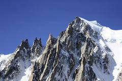 Mountains in french alps near mont blanc Stock Photos
