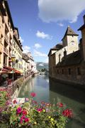 Quai de l'eveche annecy - stock photo