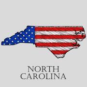 State North Carolina - vector illustration. Stock Illustration