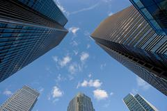 Canary wharf office buildings - stock photo