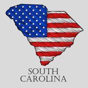 State South Carolina - vector illustration. Stock Illustration