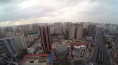 Aerial Drone footage Shanghai City Stock Footage