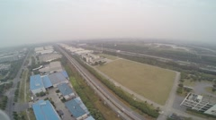 Aerial Drone Shanghai Maglev Stock Footage