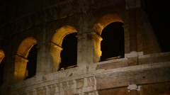 Coliseum. Night. Rome, Italy Stock Footage