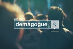 Demagogue - web search bar glossary term Stock Photos