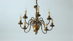 Goldish Chandelier Stock Footage