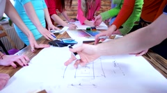 Creative design team during the development of new ideas and solutions. Stock Footage