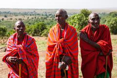 AMBOSELI, KENYA - AUG 20, 2008: Masai tribe - stock photo