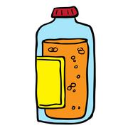 juice bottle - stock illustration