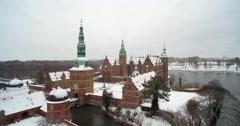 Denmark Castle in Frederiksborg, Denmark Stock Footage