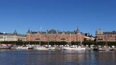 Stockholm Strandvägen boulevard in 4k Stock Footage
