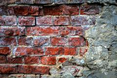 old brickwork wall - stock photo
