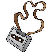 Audio cassette Stock Illustration