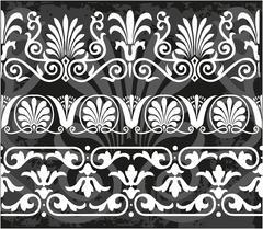 Set antique greek ornaments - stock illustration