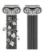 Two columns with grapes - stock illustration