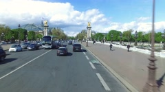 Driving throught the streets of Paris, France Stock Footage