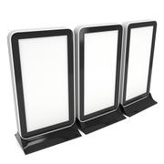 Trade show booth LCD screen stand. Stock Illustration