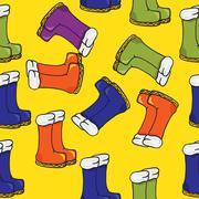 boots pattern - stock illustration