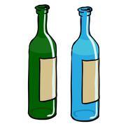 bottles - stock illustration