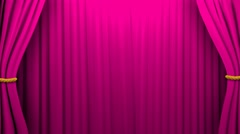 Curtains opening and closing stage theater cinema green screen 4K Stock Footage