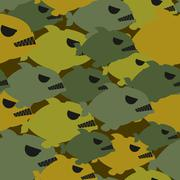 Army military camouflage from Piranha. Protective texture for soldiers clothi Stock Illustration