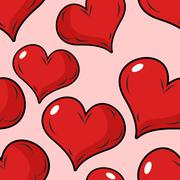 Love seamless pattern for Valentines day. Background for holiday lovers. Red  - stock illustration