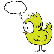 Chicken with thought bubble Stock Illustration