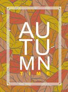 Autumn time. Golden foliage. Vector illustration wilted leaves. Background of - stock illustration