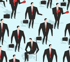 Manager seamless pattern. Business varied in different situations texture. Or Stock Illustration