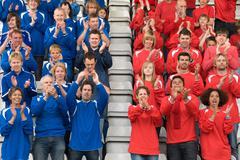 Rival fans at football match Kuvituskuvat
