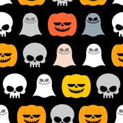 Seamless pattern for Halloween. Background of the symbols of the horrible hol Stock Illustration