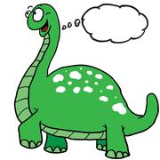 Dinosaur with thought bubble Stock Illustration