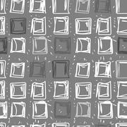 Abstract background of squares. Rectangular seamless pattern in shades of gre Stock Illustration