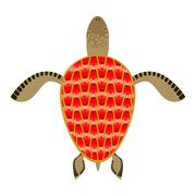 Garnet turtle. Shell Aquatic Turtle with precious stones. Fantastic underwate Stock Illustration
