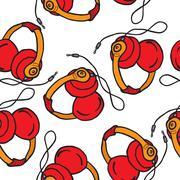 Earphones pattern Stock Illustration