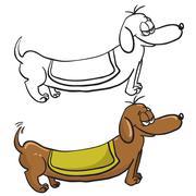 Evil dachshund Piirros