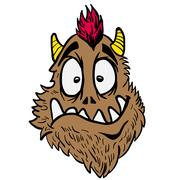 Funny looking monster Stock Illustration