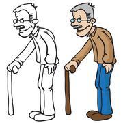 grandpa - stock illustration