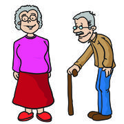 grandparents - stock illustration