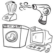 household objects - stock illustration
